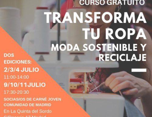 Altrapo Lab ofrece el curso gratuito 'Transforma tu ropa – Moda sostenible y reciclaje'