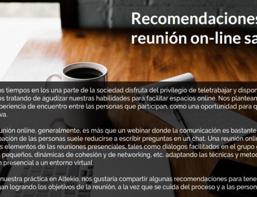 [Altekio] Guía de recomendaciones para reuniones online satisfactorias