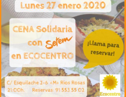 Cena solidaria con SETEM en ECOCENTRO
