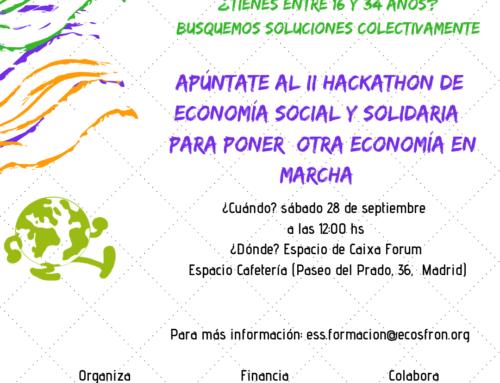 En septiembre llega el II Hackathon de Economía Social y Solidaria ¡Hack the system!