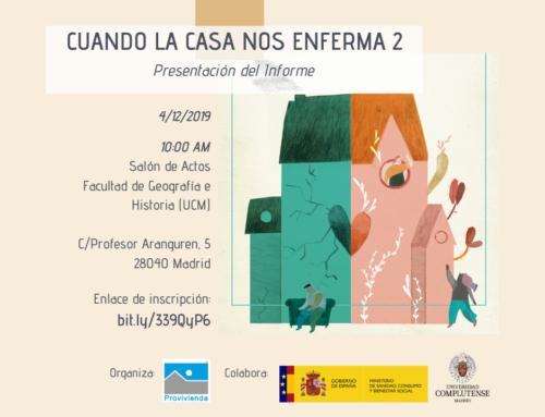 Presentación de Informe «Cuando la casa nos enferma II: Impactos en el bienestar social y emocional»