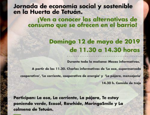 Tetuán sostenible. Jornada de economía social y sostenible en la Huerta de Tetuán