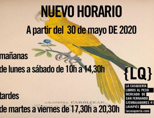 La Casquería libros: reapertura el 30 mayo
