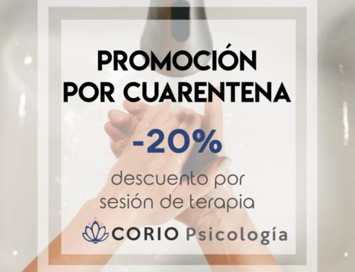 [Corio Psicología] Oferta terapia online a precios reducidos durante cuarentena COVID-19